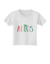 Adios Toddler T-Shirt White 4T Tooloud