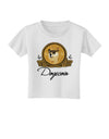 Doge Coins Toddler T-Shirt White 4T Tooloud