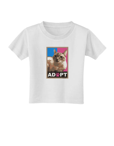 Adopt Cute Kitty Poster Toddler T-Shirt