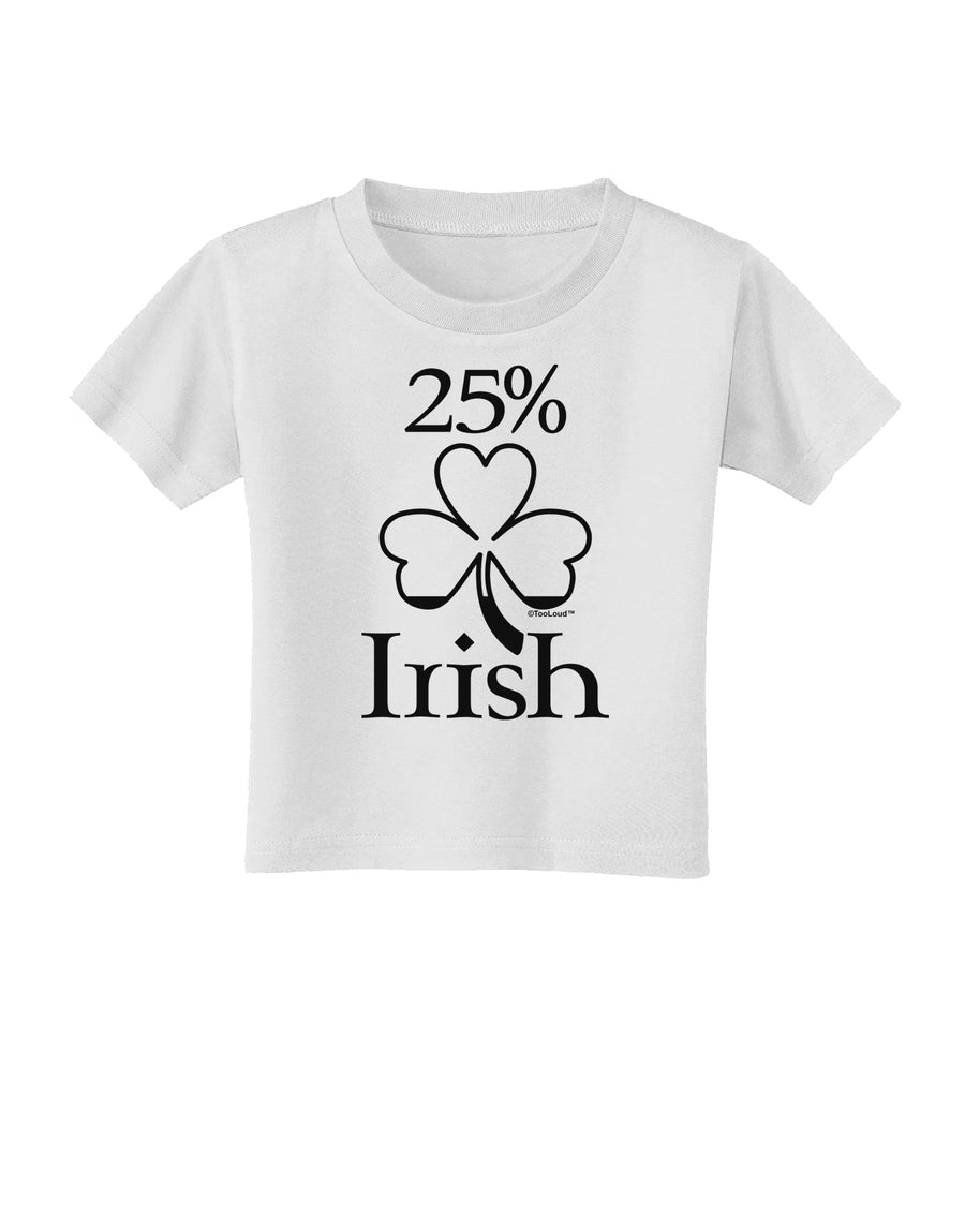 St Patricks Day Toddler T-Shirt Dark TooLoud Shamrock Button