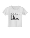 Flatten the Curve Graph Toddler T-Shirt White 4T Tooloud