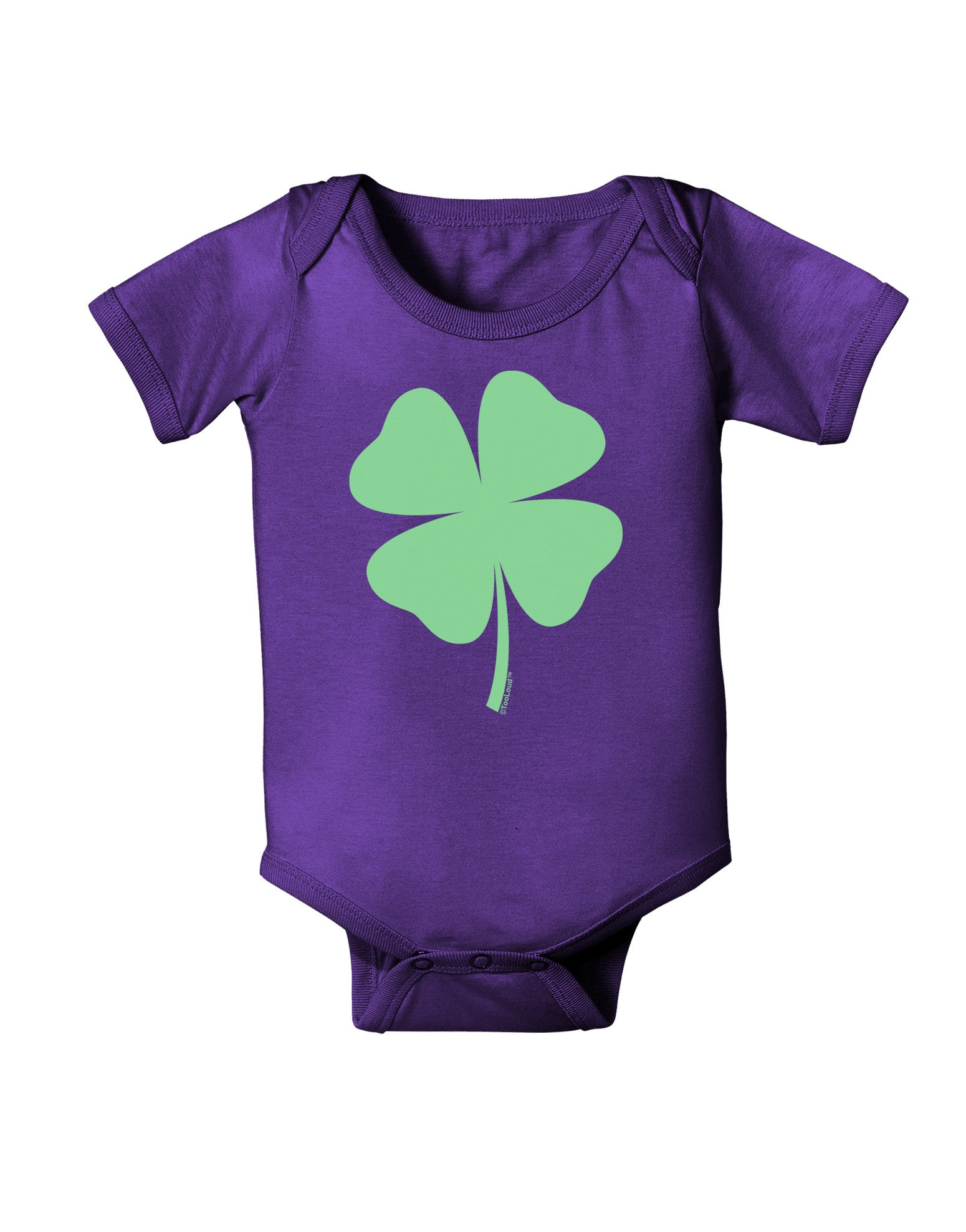 TOOLOUD Lucky Four Leaf Clover St Patricks Day Toddler T-Shirt Dark