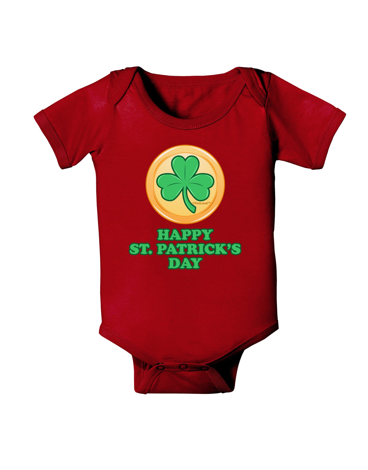 Paddys Day Shamrock Design Infant T-Shirt Dark TooLoud Happy St