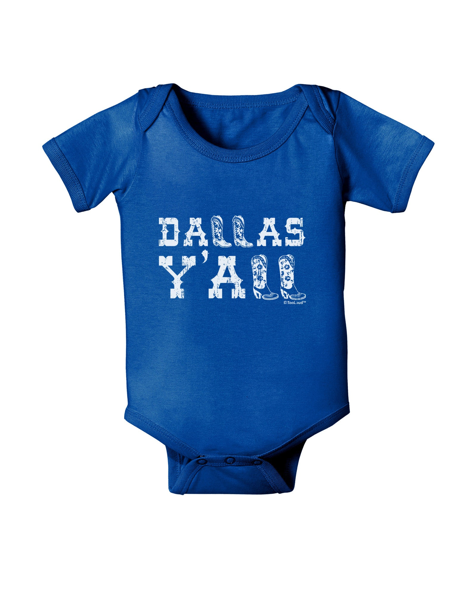TooLoud Texas Love Distressed Design Infant T-Shirt