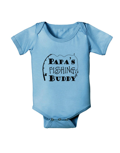 Papas Fishing Buddy Baby Romper Bodysuit - Light Blue - 18 Mos Tooloud