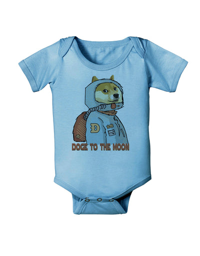 Doge to the Moon Baby Romper Bodysuit Light Blue 18 Mos Tooloud