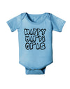 Happy Mardi Gras Text 2 BnW Baby Romper Bodysuit