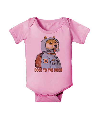 Doge to the Moon Baby Romper Bodysuit Candy Pink 18 Months Tooloud