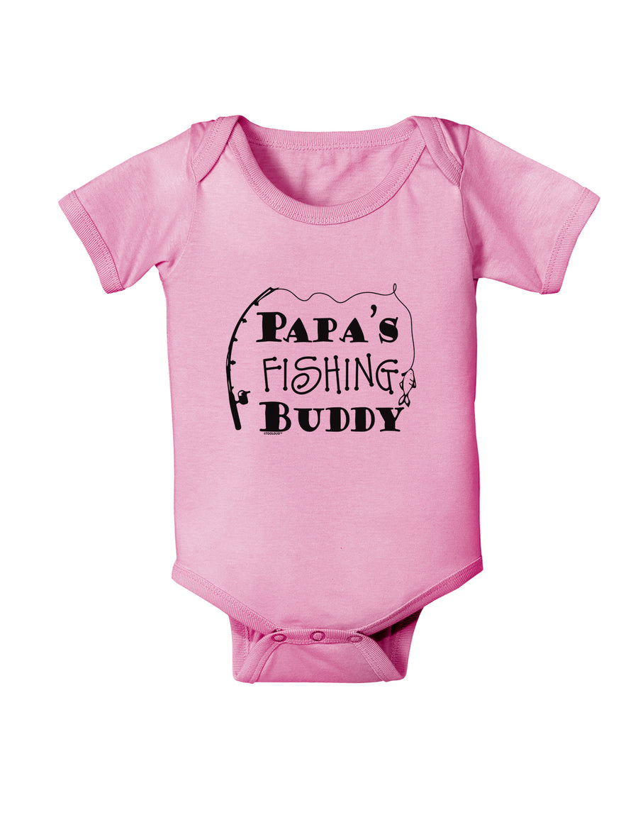 Papas Fishing Buddy Baby Romper Bodysuit - White - 18 Months Tooloud