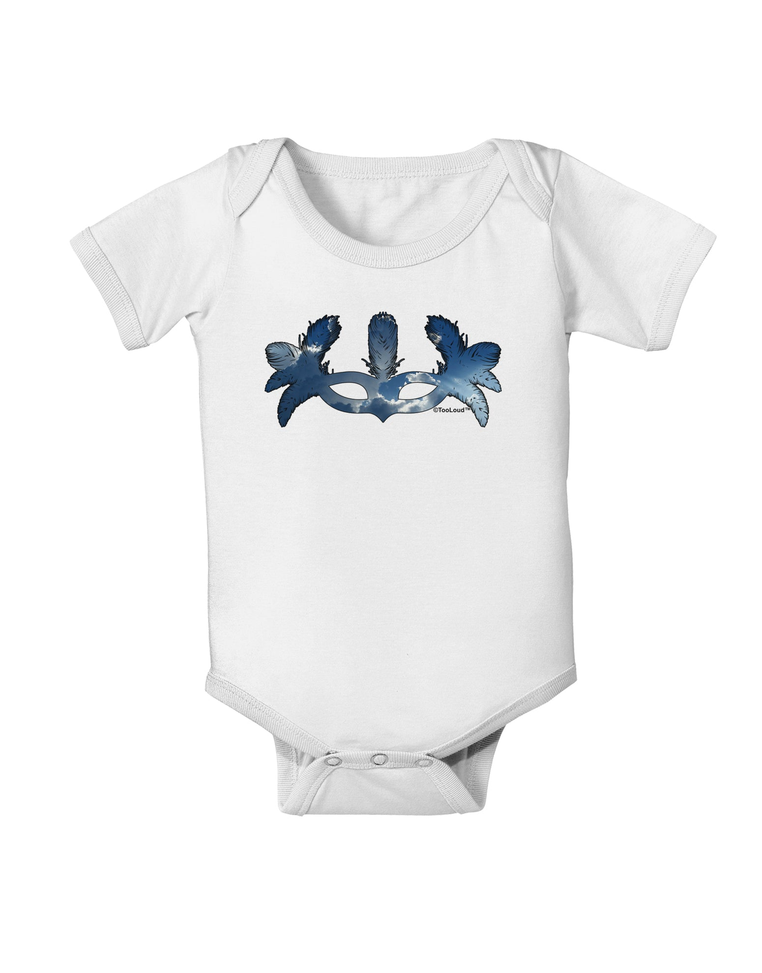 Air Masquerade Mask Baby Romper Bodysuit by TooLoud