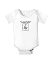 All of the Good Science Puns Argon Baby Bodysuit One Piece