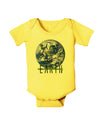 Planet Earth Text Baby Romper Bodysuit