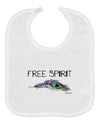Graphic Feather Design - Free Spirit Baby Bib by TooLoud