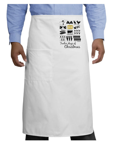 12 Days of Christmas Text Color Adult Bistro Apron