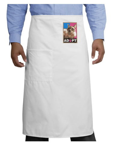 Adopt Cute Kitty Poster Adult Bistro Apron