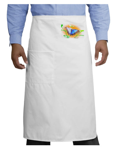 Blue Watercolor Butterfly Adult Bistro Apron