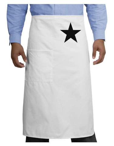 Black Star Adult Bistro Apron - White - One-Size Tooloud