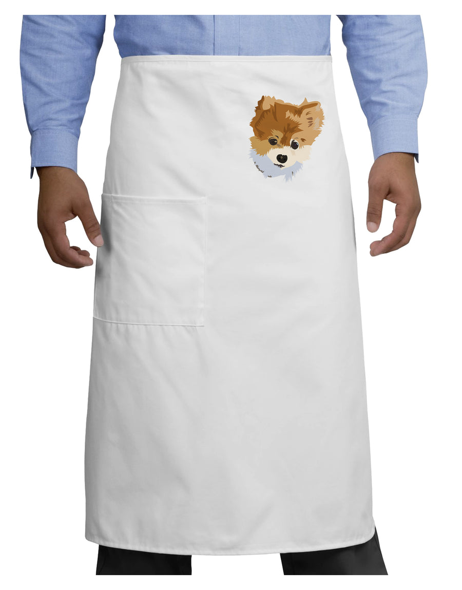 Custom Pet Art Adult Bistro Apron by TooLoud