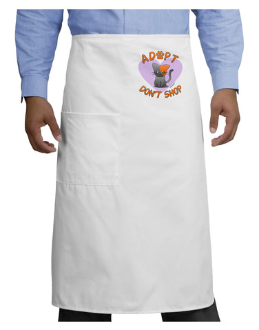 Adopt Don't Shop Cute Kitty Adult Bistro Apron