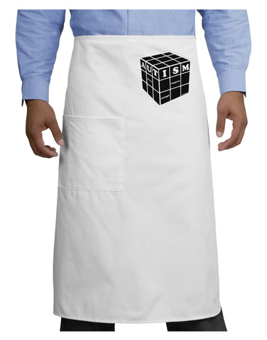 Autism Awareness - Cube B & W Adult Bistro Apron