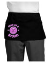 Cute As A Button Smiley Face Dark Adult Mini Waist Apron, Server Apron