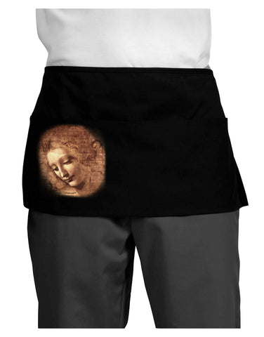 Lady With Disheveled Hair Dark Adult Mini Waist Apron