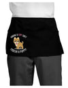 Rescue A Puppy Dark Adult Mini Waist Apron, Server Apron