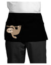 Cute Hanging Sloth Dark Adult Mini Waist Apron, Server Apron