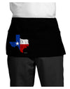 State of Texas Flag Design - Distressed Dark Adult Mini Waist Apron, Server Apron