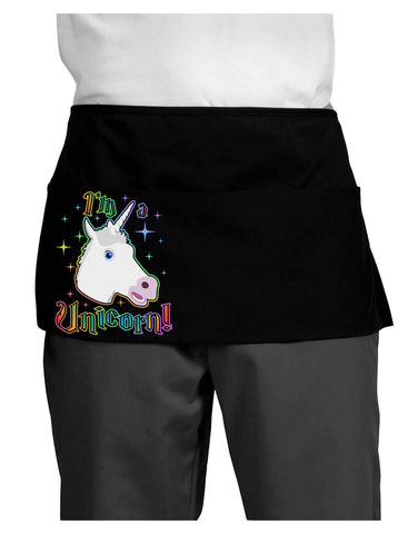 I'm a Unicorn Dark Adult Mini Waist Apron