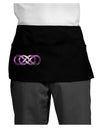 Double Infinity Galaxy Dark Adult Mini Waist Apron, Server Apron
