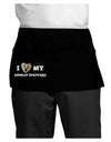 I Heart My German Shepherd Dark Adult Mini Waist Apron, Server Apron