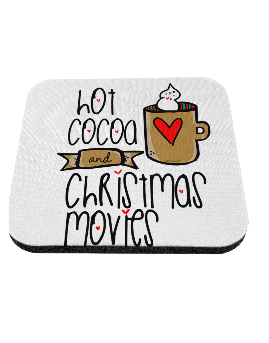 TooLoud Hot Cocoa and Christmas Movies Coaster