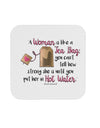 Woman Like A Tea Bag Eleanor R Coaster