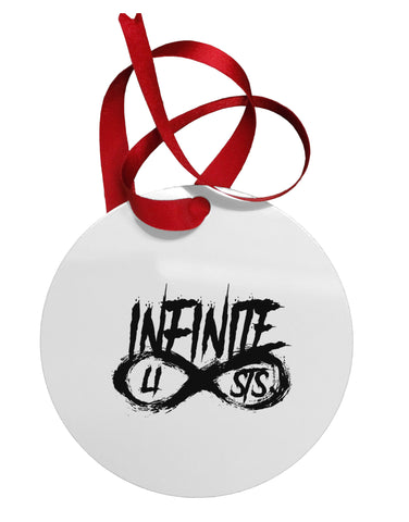 Infinite Lists Circular Metal Ornament by TooLoud