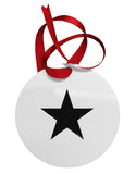 TooLoud Black Star Circular Metal Ornament