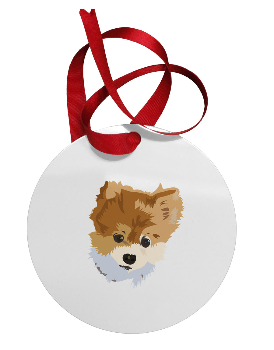 Custom Pet Art Circular Metal Ornament by TooLoud