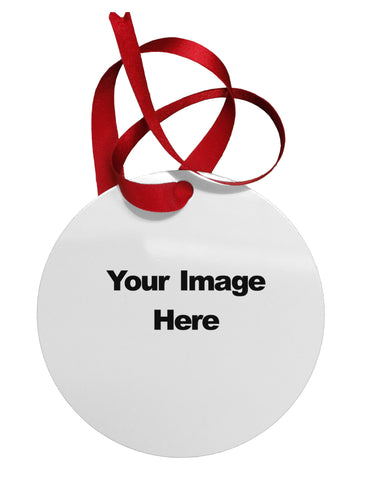 Your Own Image Customized Picture Circular Metal Ornament