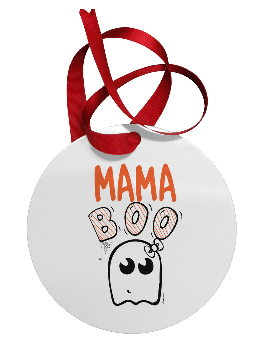Mama Boo Ghostie Circular Metal Ornament