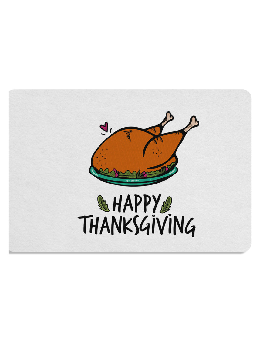 TooLoud Happy Thanksgiving Placemat Set of 4 Placemats Multi-pack
