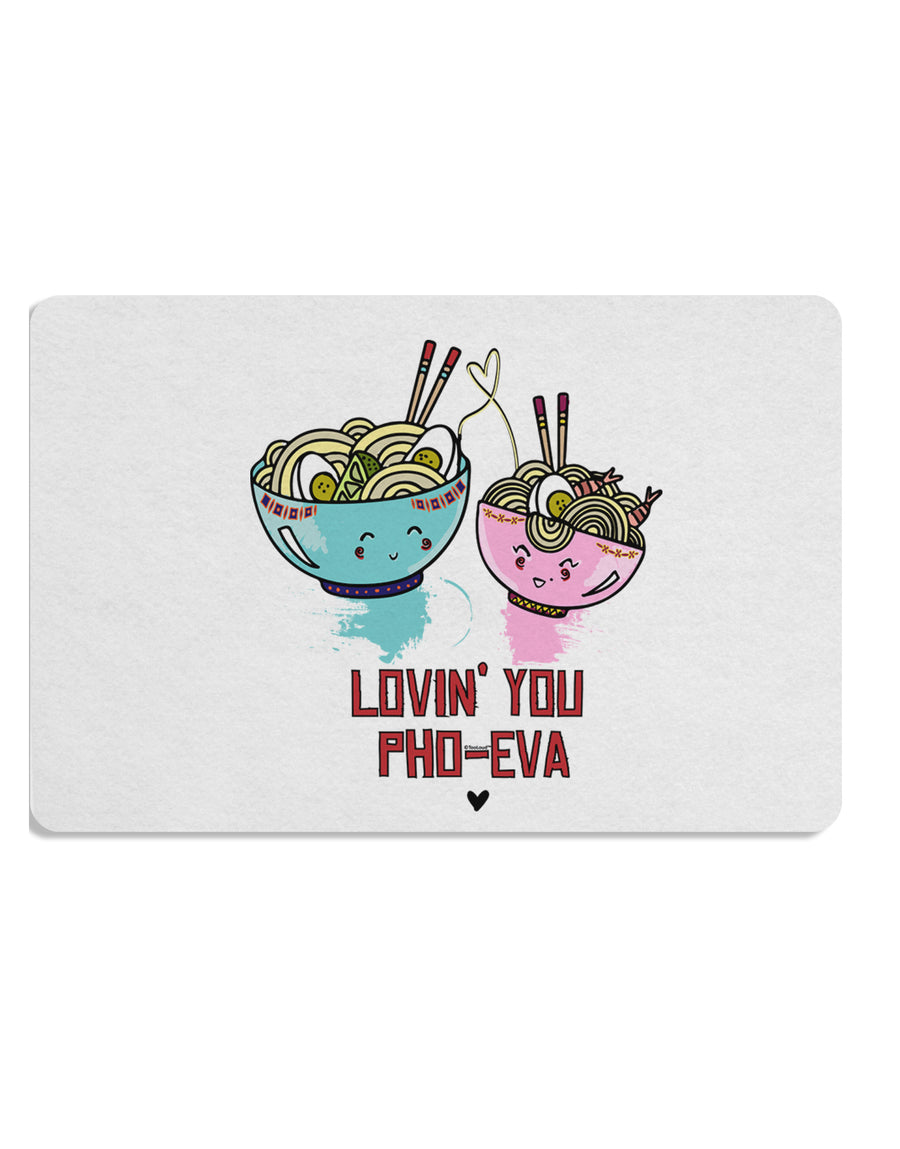 TooLoud Lovin you Pho Eva Placemat Set of 4 Placemats Multi-pack