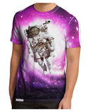 Astronaut Cat AOP Men's Sub Tee Single Side All Over Print