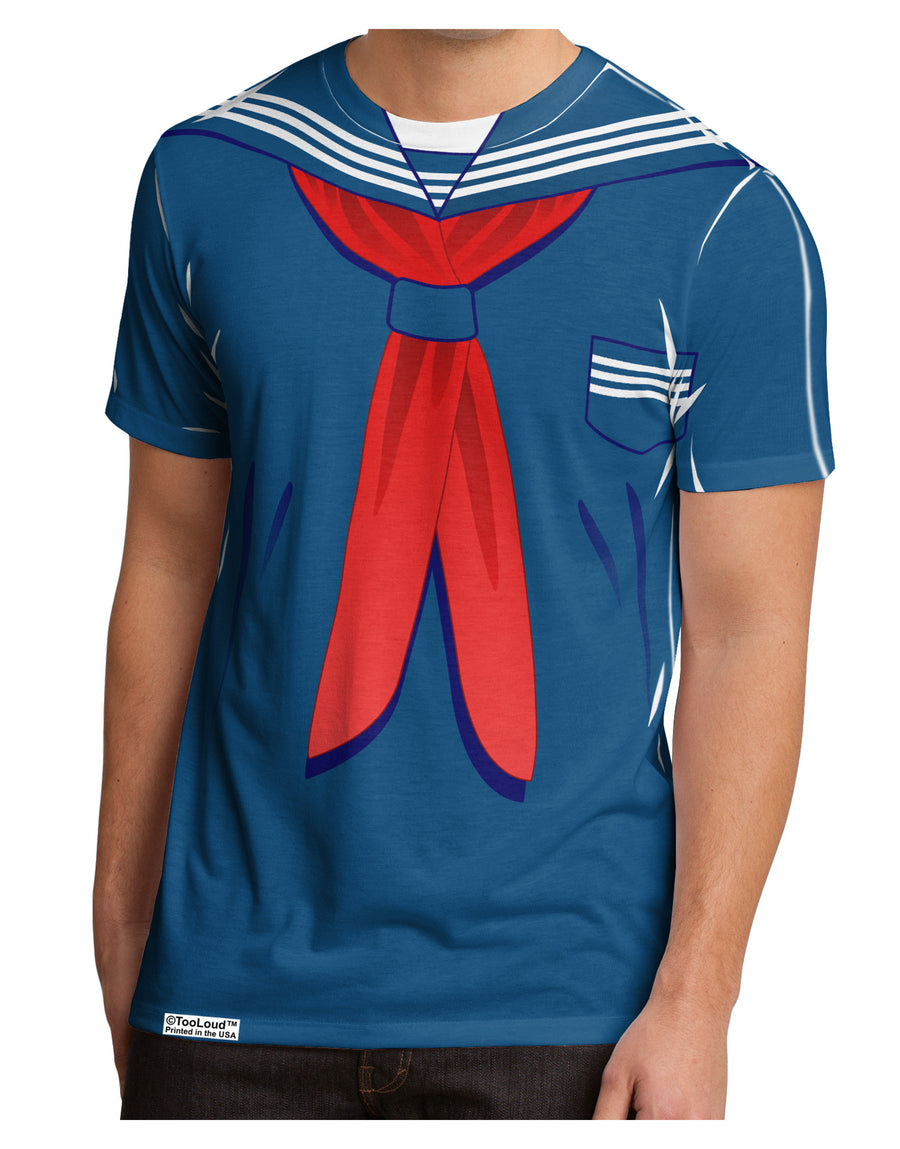 School Uniform Costume - Blue Men's Sub Tee Dual Sided All Over Print