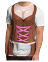 Sexy Dirndl Costume Brown Men's Sub Tee Dual Sided All Over Print