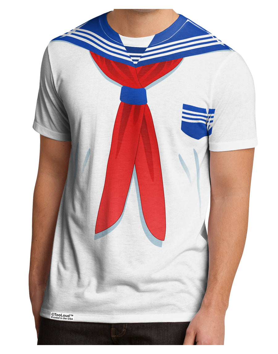 School Uniform Costume - White Men's Sub Tee Dual Sided All Over Print