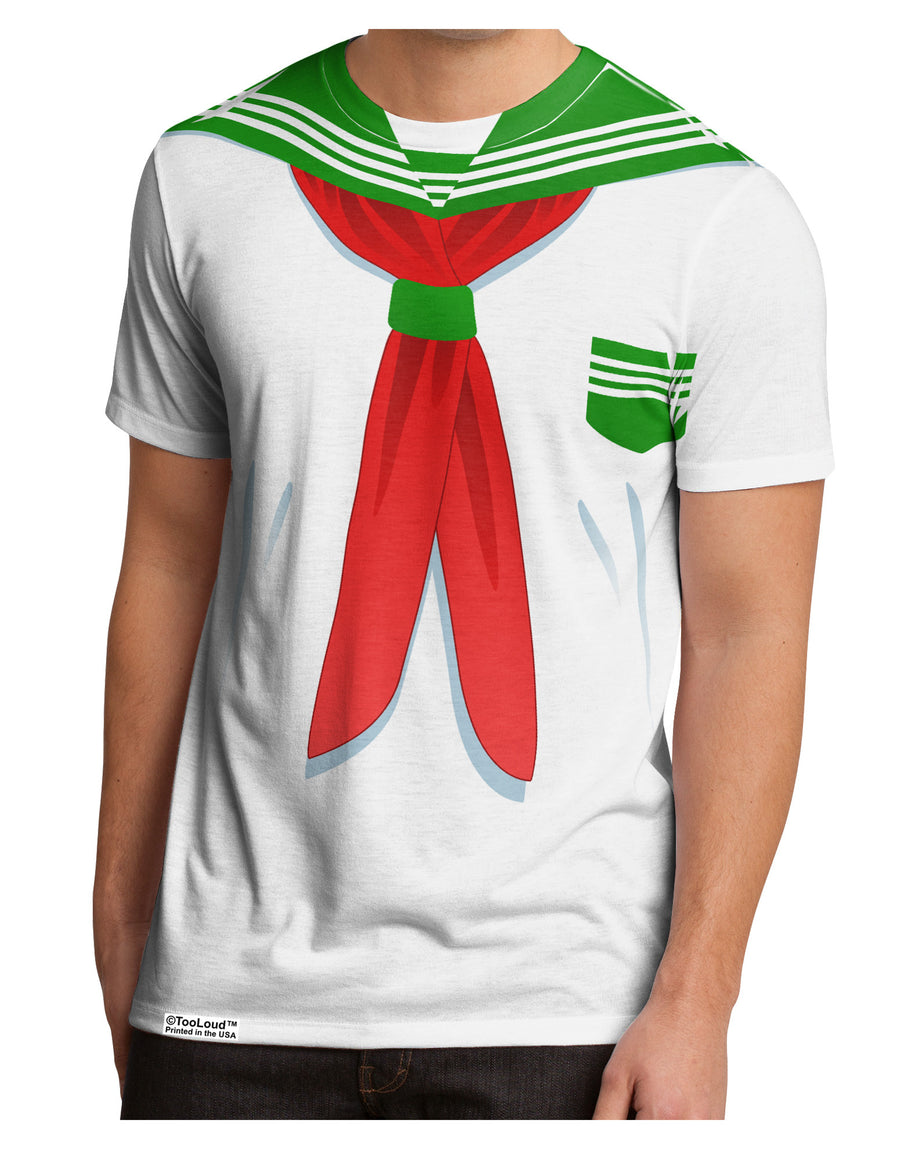 School Uniform Costume - Green Men's Sub Tee Dual Sided All Over Print