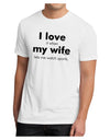 I Love My Wife - Sports Men's Sublimate Tee