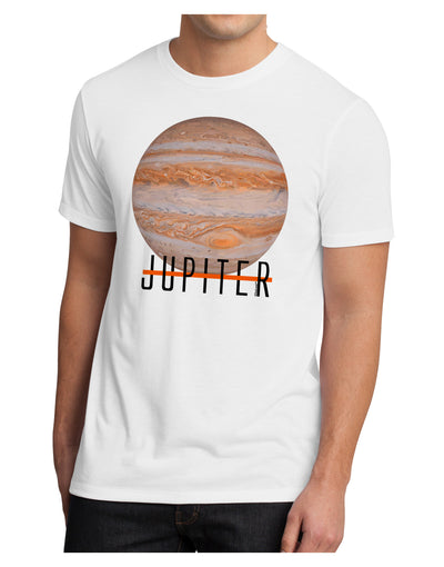 Planet Jupiter Earth Text Men's Sublimate Tee