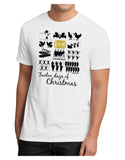 12 Days of Christmas Text Color Men's Sublimate Tee