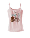 God put Angels on Earth and called them Cowboys  Spaghetti Strap Tank
